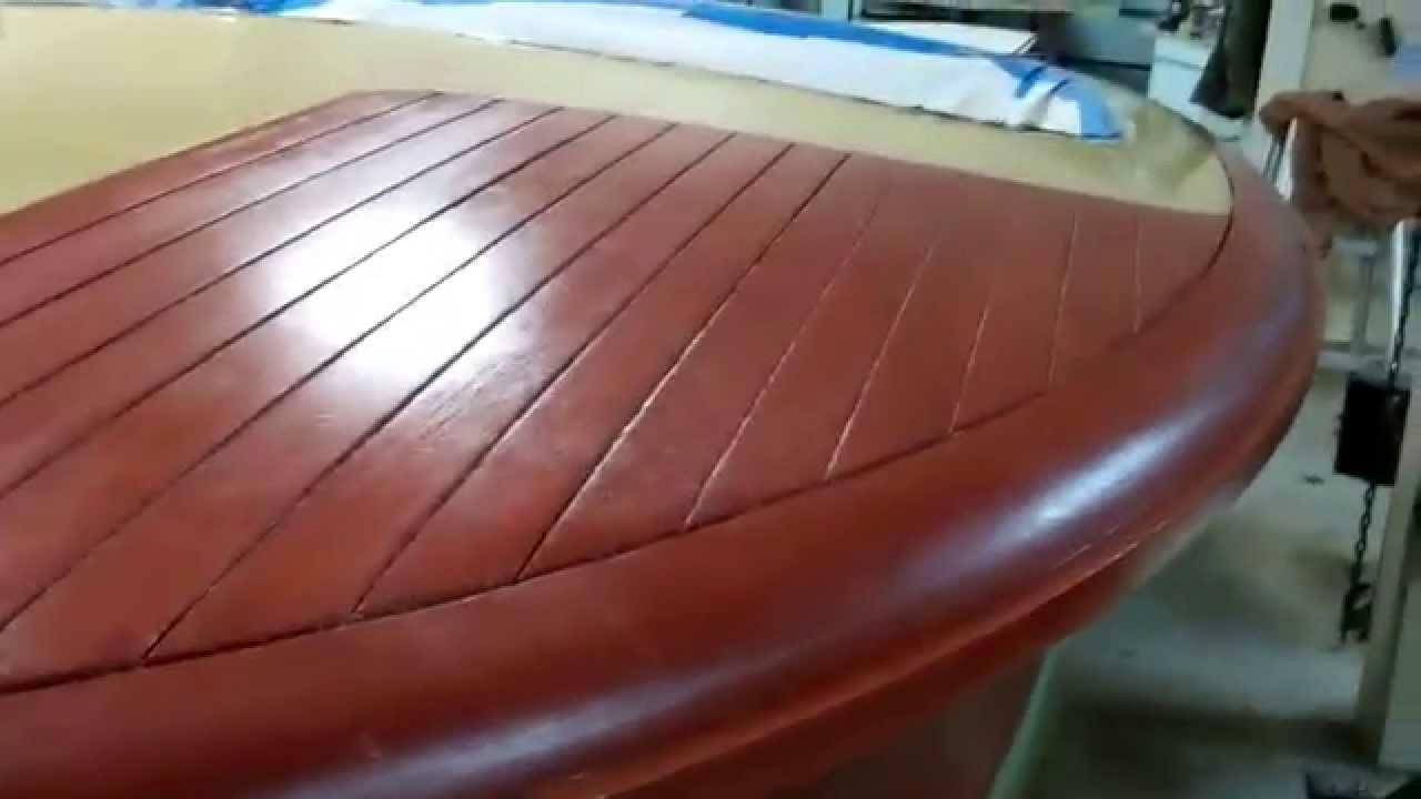1952 chris craft riviera sealed first coat