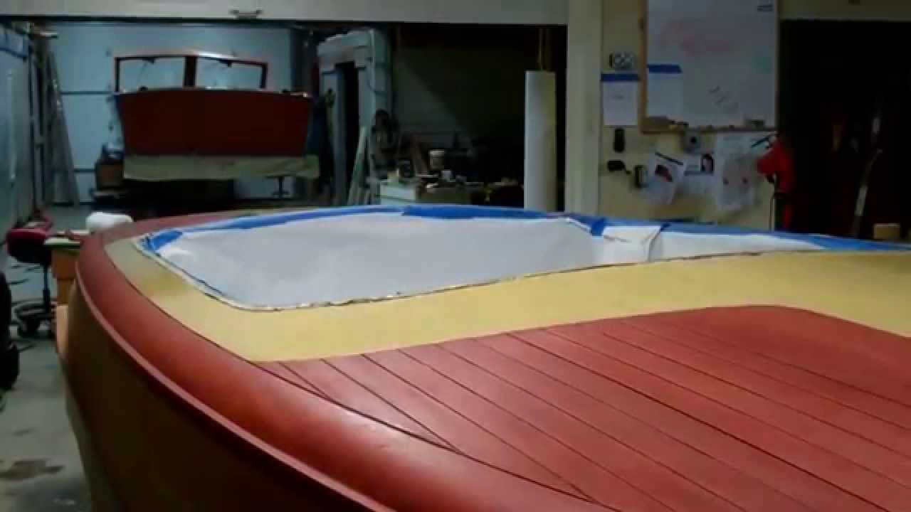 1952 chris craft riviera staining complete