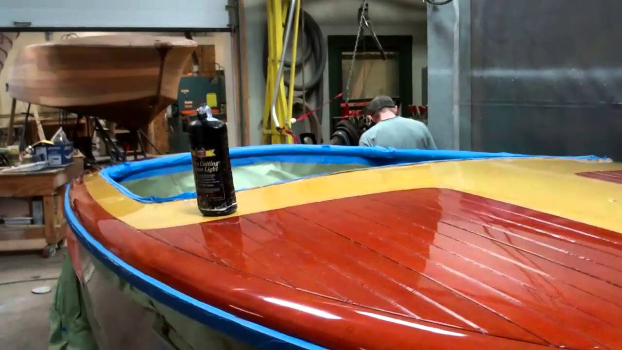 1952 chris craft riviera buffing varnish