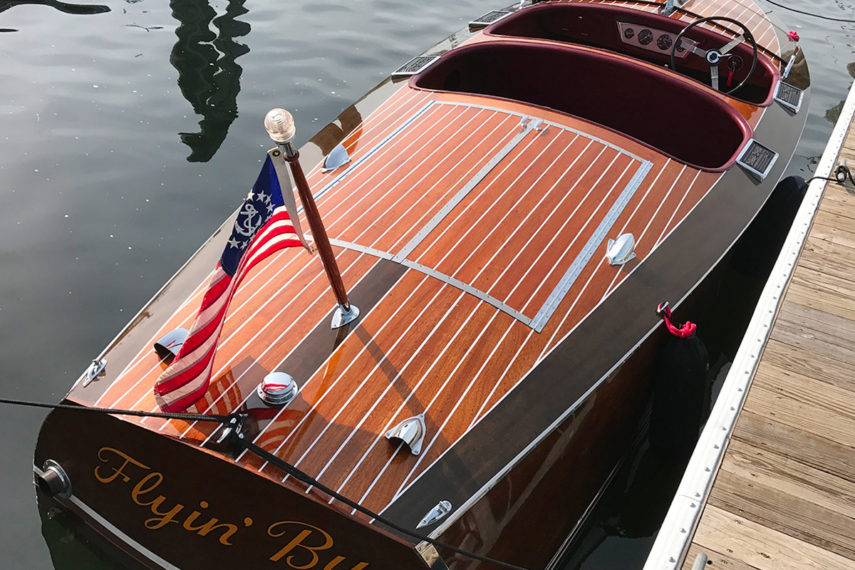 flyin by 1938 chris craft runabout