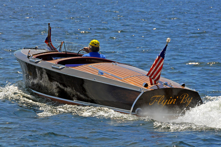 1938 Chris Craft Runabout Flyin By