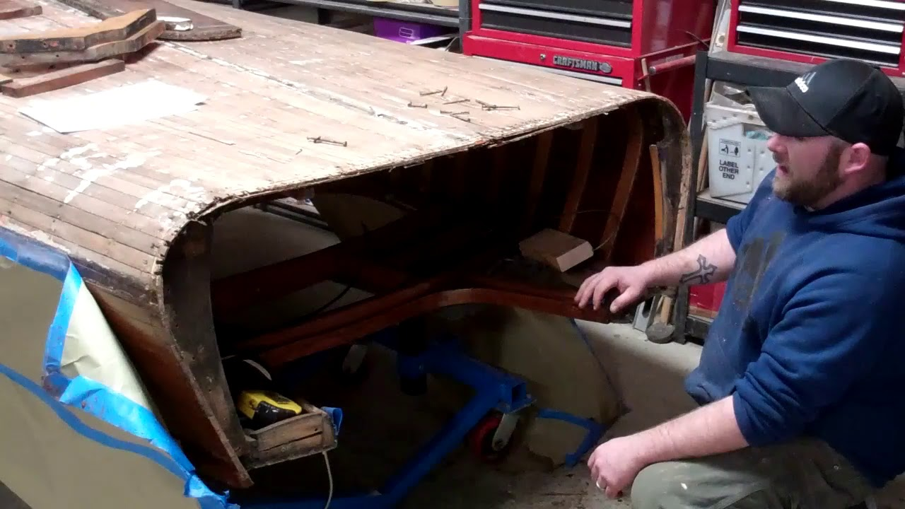 1954 penn yan captivator fabricating transom