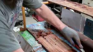 how to strip varnish vintage boat