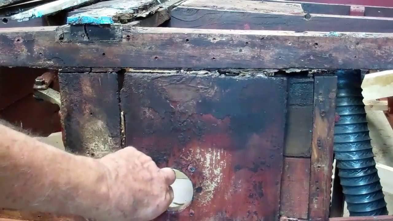 1946 chris craft brightside u22 how to fix bottom