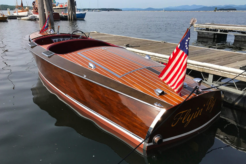 1938 chris craft runabout docked