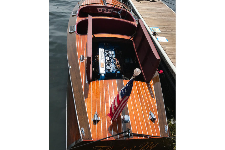 1938 chris craft runabout flyin-by