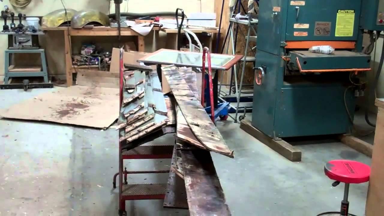1953 Shepherd Sportsman 22' Starboard Bottom Planking Update 11 27 2015