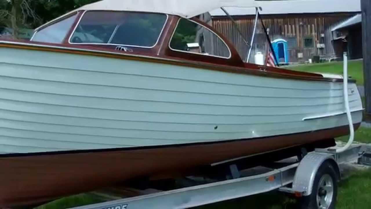 1955 lyman runabout new convertible top