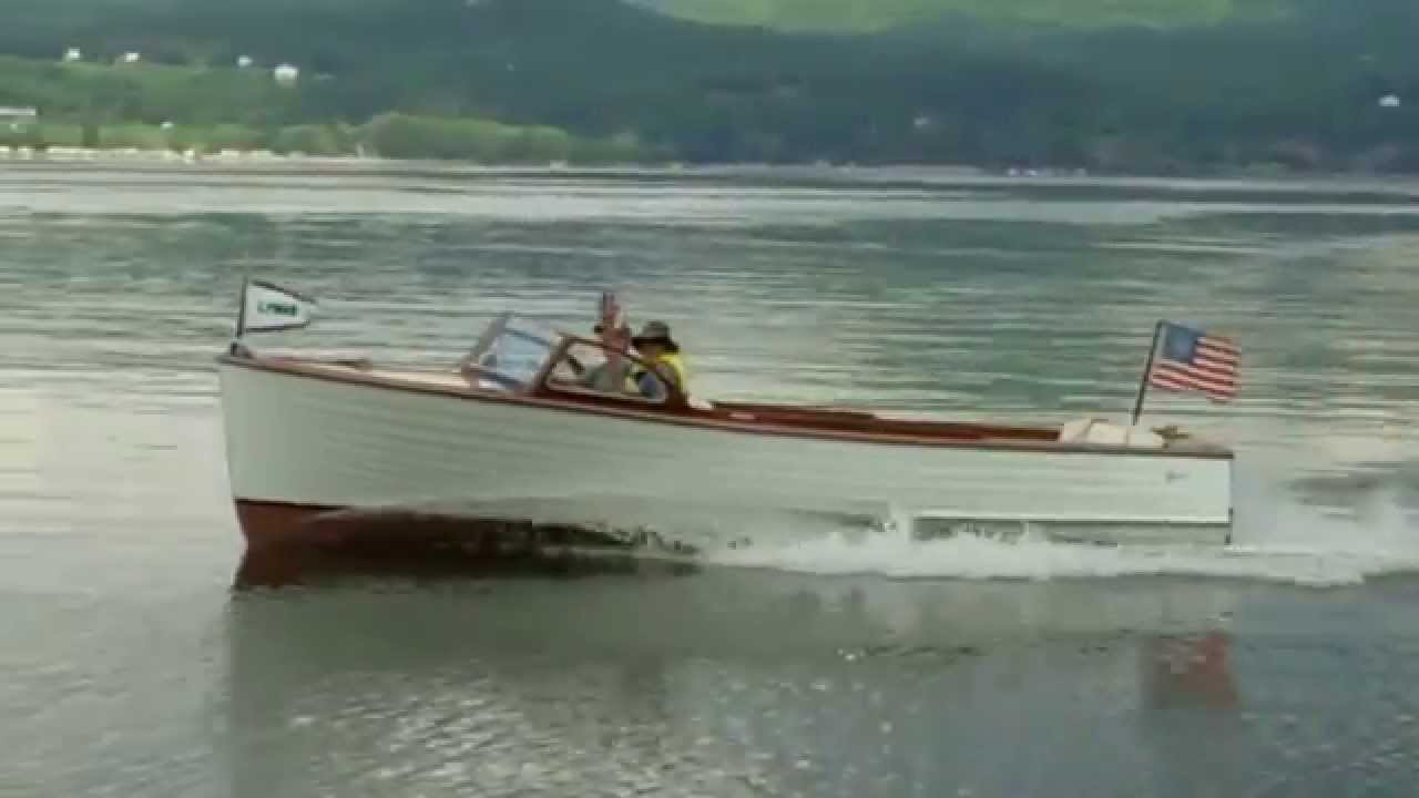 1955 lyman runabout on the water