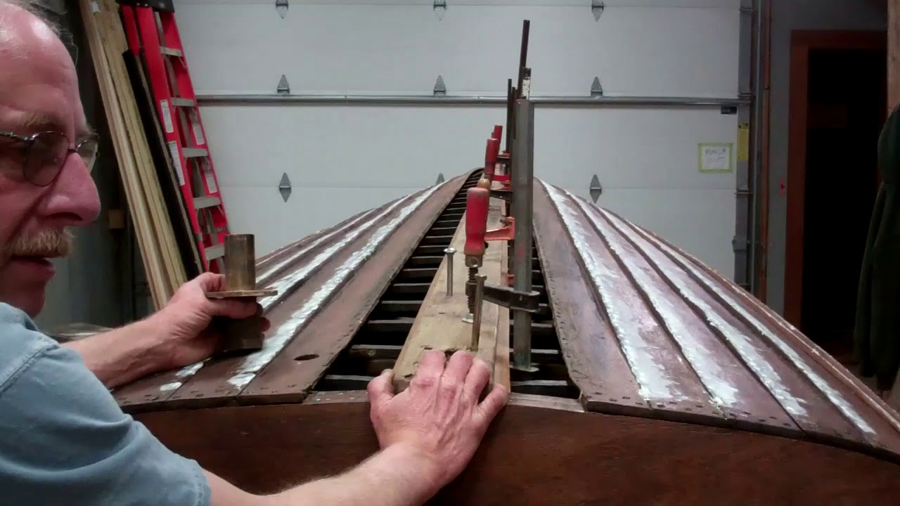 1940 lyman yacht tender bottom work keelson replacement