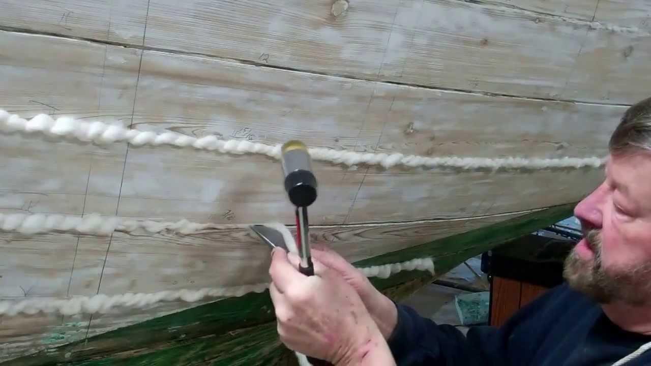 vintage boat caulk seams cotton roving