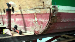 1967 lyman cruisette transom section repair