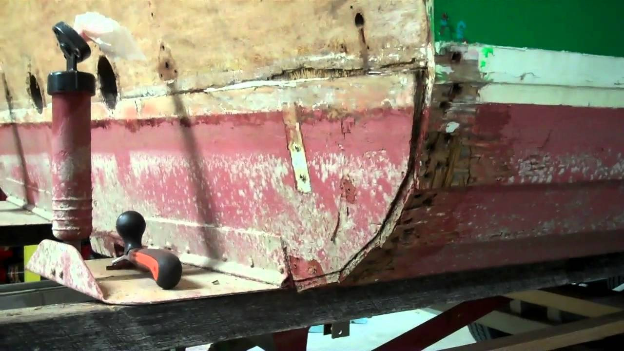 1967 lyman cruisette transom section repair