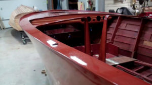 1946 chris craft brightside u22 varnish update