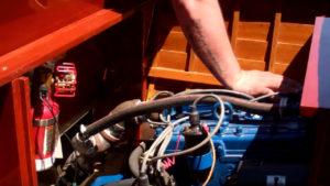 1940 lyman yacht tender engine test