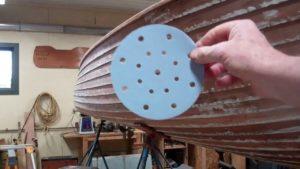 1937 lyman runabout hull stripping fairing